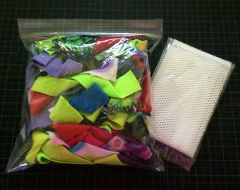 Fleece Strips & Wash Bag