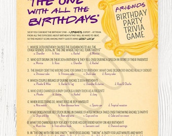 Friends tv show invitation friends party birthday party friends tv show party friends tv show trivia friends theme birthday party friends stopboris Choice Image