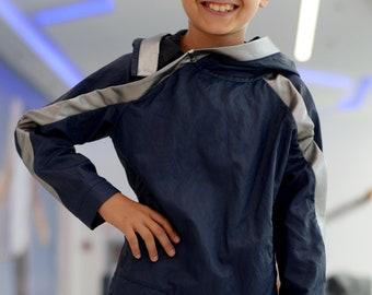 Designer boys sweater jacket/Kids hooded sweatshirt jacket/Toddler summer jacket/Shiny viscose hoodie/ Casual outfit for kids