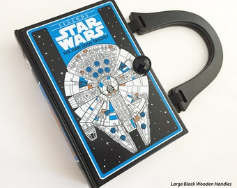 Star Wars Han Solo Book Purse - Millennium Falcon Book Clutch - Star Wars Collector Gift - Jabba The Hut Bag - Chewbacca Costume Accessory