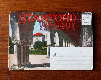 Antique Stanford University Souvenir Folder - 1920s - 18 Views