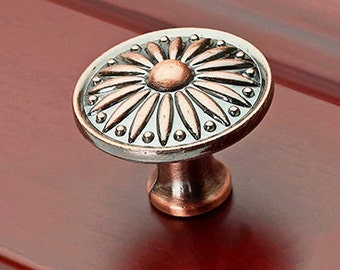 Retro Drawer Knobs Door Knobs American Dresser Knobs  Metal Knobs