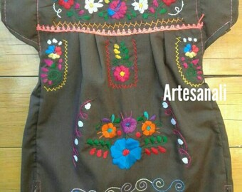 Newborn Mexican Baby dress hand Embroidered size 0-3 months