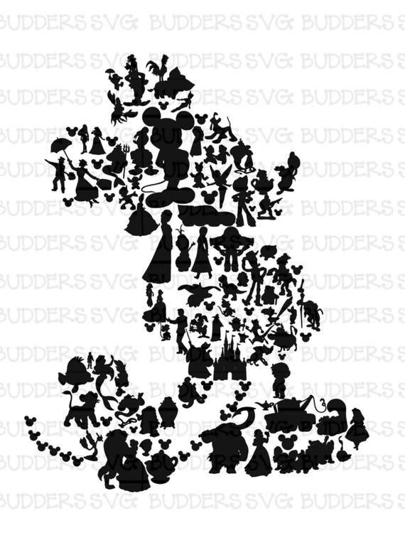 Character Filled Mickey Mouse Svg Disney Cut File Disney