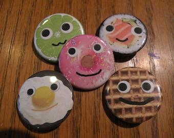 Food Friends Button Set
