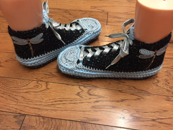 dragonfly sneaker Crocheted 400 shoes 10 sneakers crocheted shoes sneakers 8 slippers crochet tennis dragonfly tennis slippers List Womens wRRT1qInr