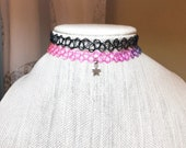 Rainbow Tattoo Choker, St...