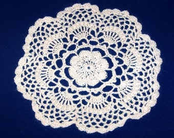 Bullion Flower Doily from Handspun Ramie