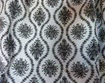 """canvas black and white vintage """"Sévigné"""" * 1.25 m x 1.58 m * cotton"""