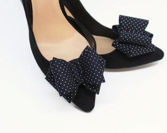 Polka Dot 3D Classy Bows Shoe Clips Shoe Accessories