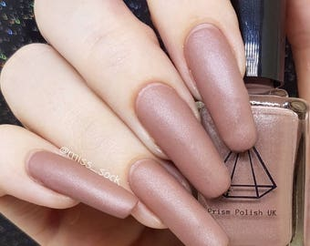 As you wish, a matte effect dusky pink uk indie handmade polish