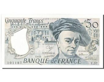 france 50 francs 50 f 1976-1992 ''quentin de la tour'' 1989 km #152d...