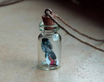 Jimi Hendrix Lighting Fire in a Tiny Bottle Pendant