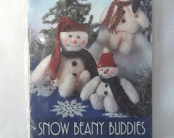Snowman Vintage Patterns Plush Snowmen Winter Decor Stuffed Snowman Pattern