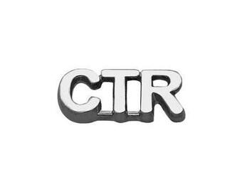 "Pin Tie Tack "" CTR "" Silver - J35S"