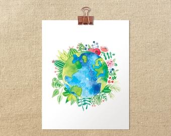 "Love Thy Earth // 5x7"" 8x10"" Giclée Art Print"