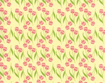 MODA Tuppence Floral Della Tulip Butter Yellow 45512 12 Yardage by Shannon Gillman Orr