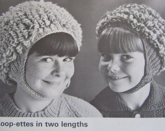 Knit Hat Helmet Patterns - Vintage Patterns - PDF Patterns 118m
