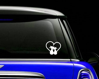 Love Cats Tail Decal