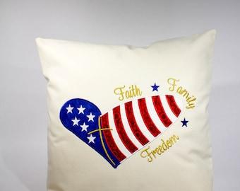 Patriotic Decor, American Flag Pillows, Patriotic Pillows, Rustic US Flag Decor,  Rustic Flag Decor, 4th of July Decor, Americana Decor