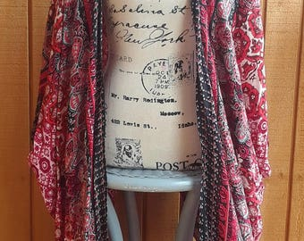 Long Kimono Cardigan. Handmade Duster, Plus size