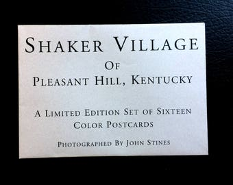 Shaker Village of Pleasant Hill Kentucky Limited Edition set of Sixteen Color Postcards John Stines A scarce collection 105 of 500 published
