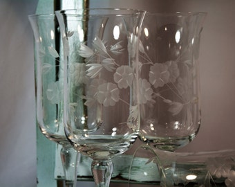 Vintage Colony, Consara, Stemware, Ice Tea Goblet, Wine Glasses