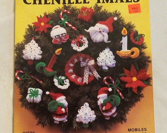 1984 Christmas Chenille-imals, Miniature Ornament Crafts