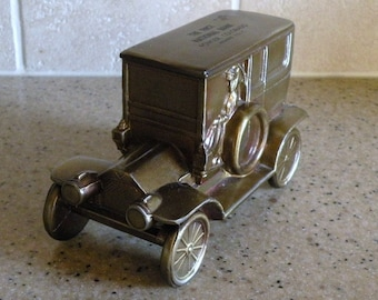 1950s Metal Antique Car Bank with Key