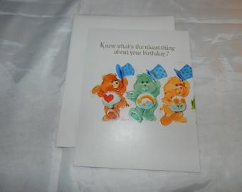 You just keep going up care bears greeting card unused care bears greeting card unused 1984 collectible ephemera m4hsunfo
