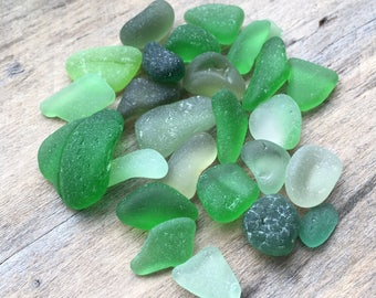 Green Sea Glass Mix