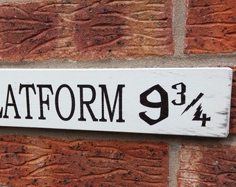 Harry potter platform sign plaque distressed shabby chic vintage sign