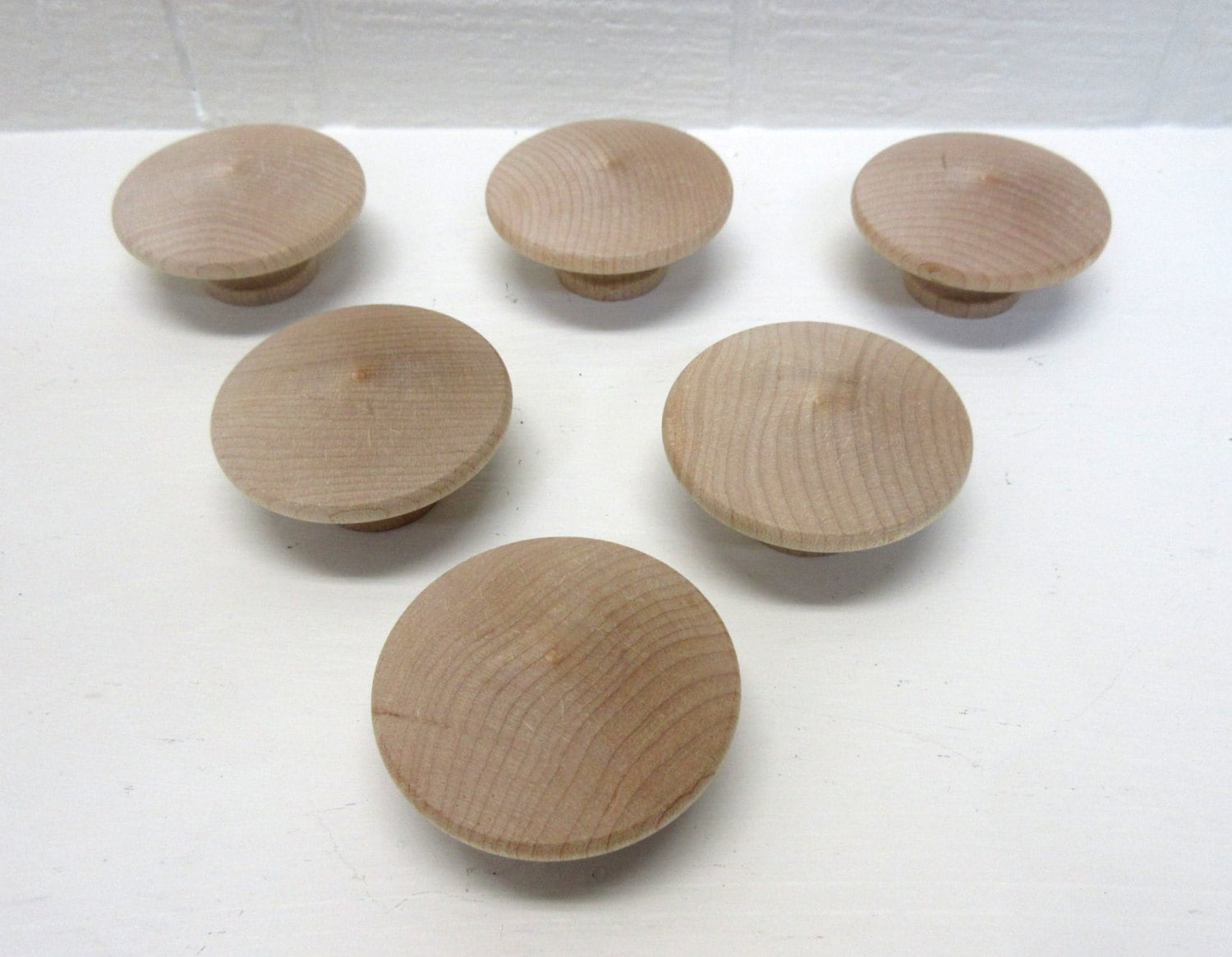 Wood Knobs New And Unfinished 2 Inch Wooden Door Knob