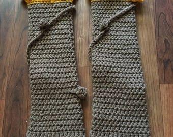 Sunflower Leg Warmers - Child - Hand Crochet