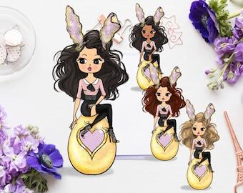 DIGITAL* Miss Glam Lady D Golden Egg Die Cut