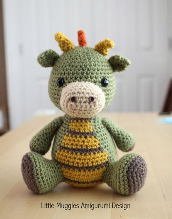 Amigurumi Crochet Pattern Spike The Dragon