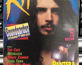 Vintage Soundgarden Vintage Music Collectibles - Chris Cornell 1992 Vintage Grunge Magazine