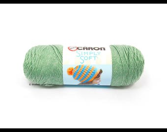 Caron Simply Soft Yarn, Woodland Heather, 5 oz