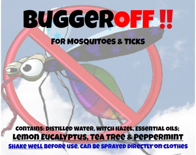 BuggerOFF! bggr007 Body and Clothing Spray TeaTree Lemon Eucalyptus & Peppermint for Ticks, Chiggers Mosquitoes Bugspray