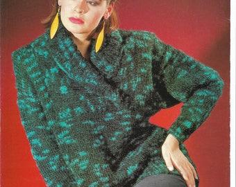 pdf Ladies Sweater Knitting Pattern.