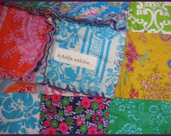 rag quilt QUEEN - Jennifer Paganelli custom - reversible