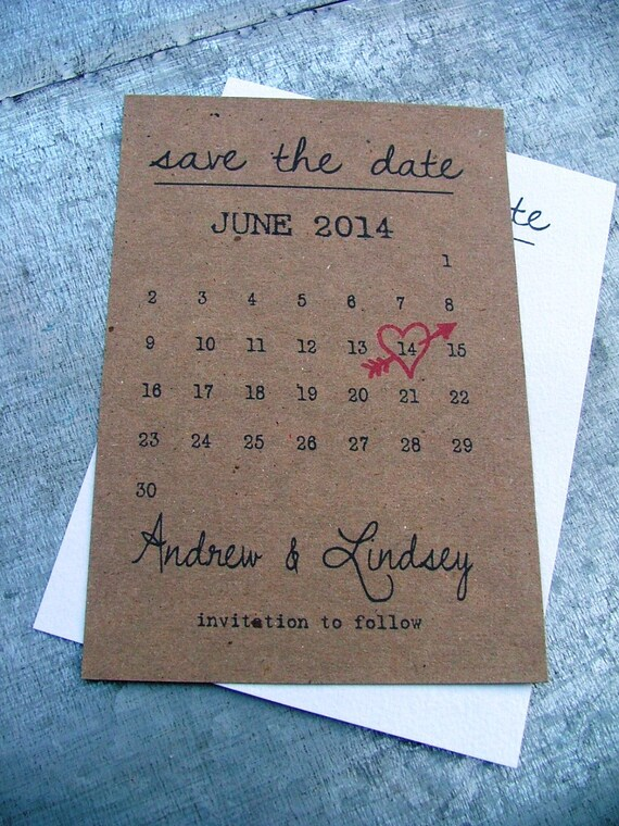 calendar save the date cards best selling item heart date