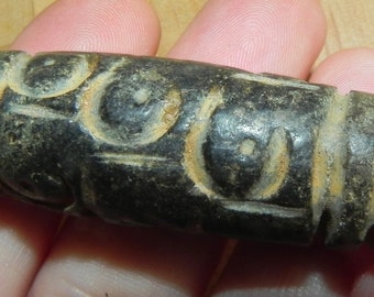 Old HongShan culture dzi - meteorite energy - dzi bead 9 eyes - celestial energy - HongShan dzi bead