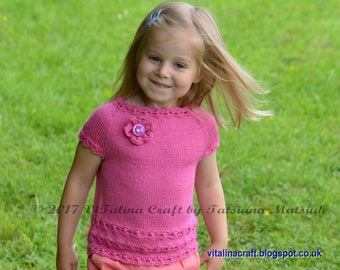 Knitting Pattern - Daisy Chain Sweater (Baby, Child and Teen sizes)