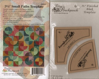 """Drunkards Path 3.5"""" Small Paths Template Acrylic  Quilting Quilt Block Elisa's Backporch"""