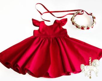 Classic Red Dress   Christmas Dress   Red Dress   Girls Dress   Baby Dress   Toddler Dress   Holiday Dress   Party Dress   Birthday Dress