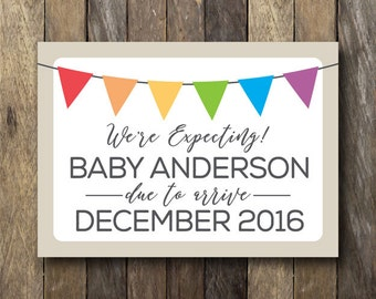 Pregnancy Reveal Sign - Printable Pregnancy Announcement - Pregnancy Reveal Printable - Pregnancy Announcement Sign - We're Expecting