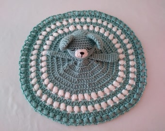 Handmade Crochet Green Bear