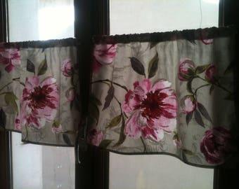 """2 curtains """"Breeze bise"""" nature - unique"""