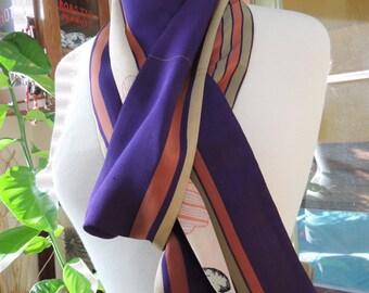 Long reversible japanese scarf/vintage kimono scarf